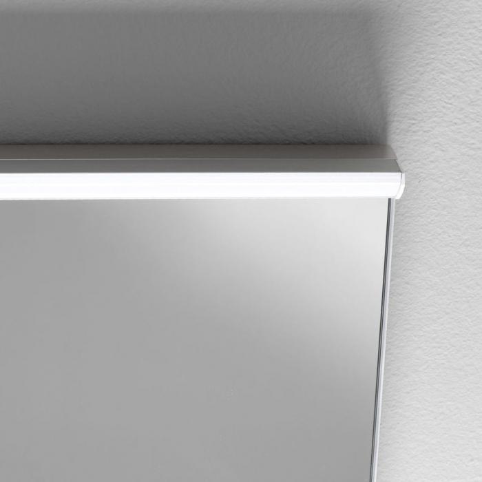 Set de baie cu 3 piese OSLO, Melamina/Aluminiu/Abs/Sticla/Ceramica/Metal, Alb, 121x46.5x190 cm 1