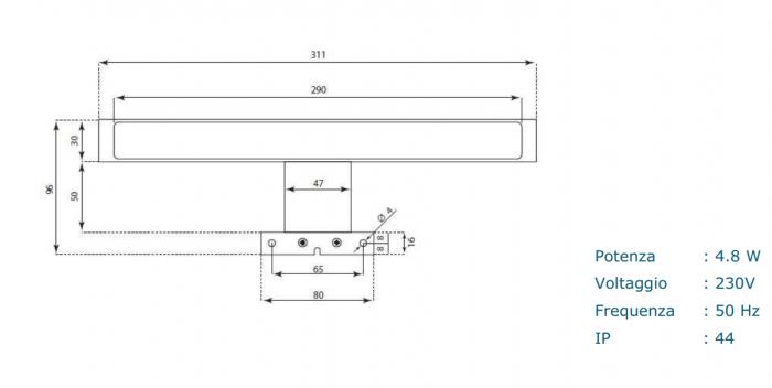 Set de baie cu 4 piese AGO, Melamina/Aluminiu/Abs/Sticla/Ceramica/Metal, Alb,  101x46.5x190 cm 7