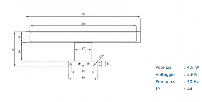 Set de baie cu 4 piese AGO, Melamina/Aluminiu/Abs/Sticla/Ceramica/Metal, Gri, 71x46.5x190 cm 7