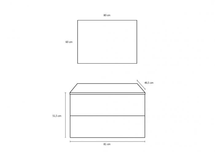 Set de baie cu 4 piese MALMO, Melamina/Aluminiu/Abs/Sticla/Ceramica/Metal, Gri, 81x46.5x190 cm 6