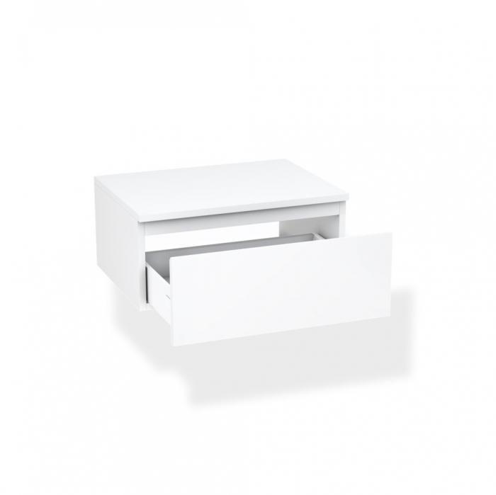 Set de baie cu 4 piese YOKA , Melamina/Aluminiu/Abs/Sticla/Ceramica/Metal, Gri,  120x45x190 cm 1