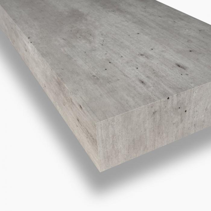 Set de baie cu 4 piese YOKA , Melamina/Aluminiu/Abs/Sticla/Ceramica/Metal, Gri,  120x45x190 cm 2
