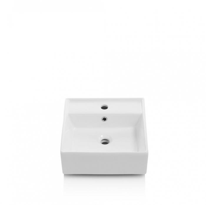 Set de baie cu 6 piese PERTH, Melamina/Aluminiu/Abs/Sticla/Ceramica/Metal, Gri, 140x46.5x190 cm 3