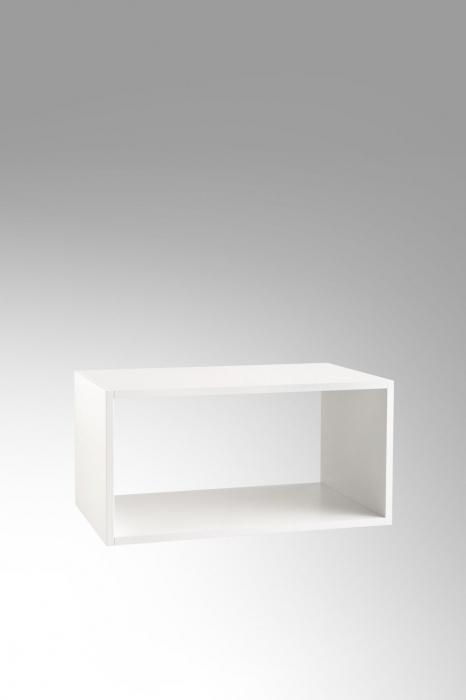 Set de baie cu 6 piese PERTH, Melamina/Aluminiu/Abs/Sticla/Ceramica/Metal, Gri, 140x46.5x190 cm 7