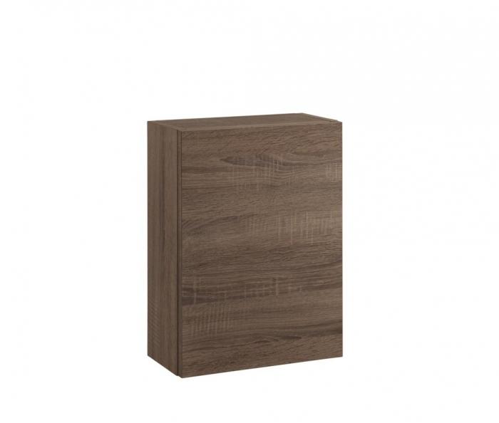 Set de baie cu 8 piese PERTH, Melamina/Aluminiu/Abs/Sticla/Ceramica/Metal, Alb/Maro inchis, 131x46.5x190 cm [8]