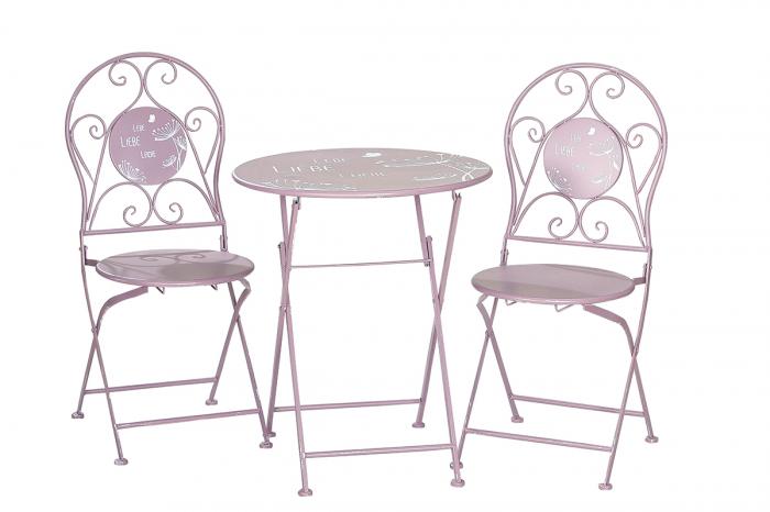 Set masa cu 2 scaune, metal, de exterior imagine 2021 lotusland.ro