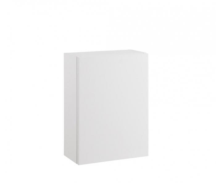 Set mobilier pentru baie 8 piese PERTH, Melamina/Aluminiu/Abs/Sticla/Ceramica/Metal, Alb/Maro deschis, 131x46.5x190 cm 6
