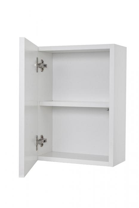 Set mobilier pentru baie 8 piese PERTH, Melamina/Aluminiu/Abs/Sticla/Ceramica/Metal, Alb/Maro deschis, 131x46.5x190 cm 7