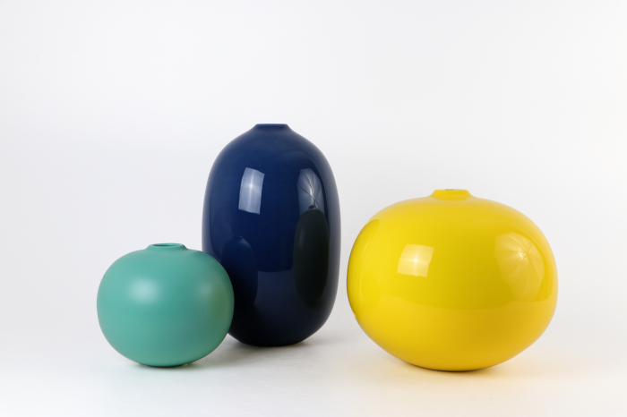Set 3 vaze STIJL, ceramica, multicolor, 40/25/13 cm 0