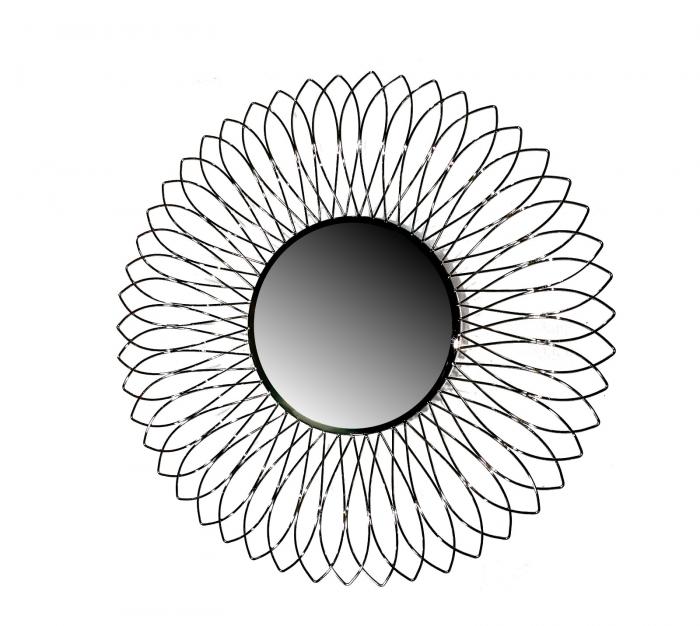 Set Vaza cu Oglinda TROPIC, metal/nichel, 46/76 cm 2