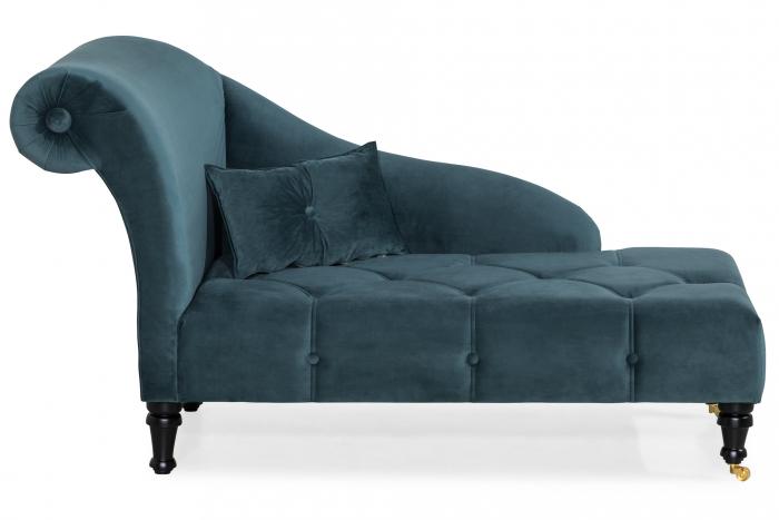Sezlong living Diana, Albastru verzui, 165x88x70 cm 0