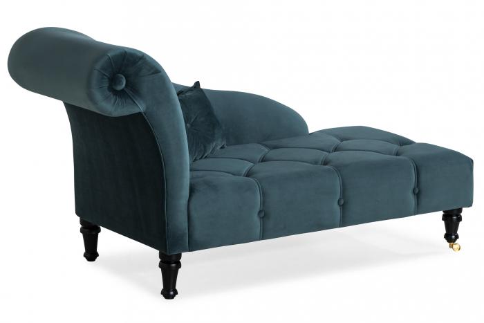 Sezlong living Diana, Albastru verzui, 165x88x70 cm 1