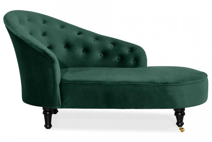 Sezlong living Diana Classic, Verde inchis, 151x82x81 cm imagine 2021 lotusland.ro