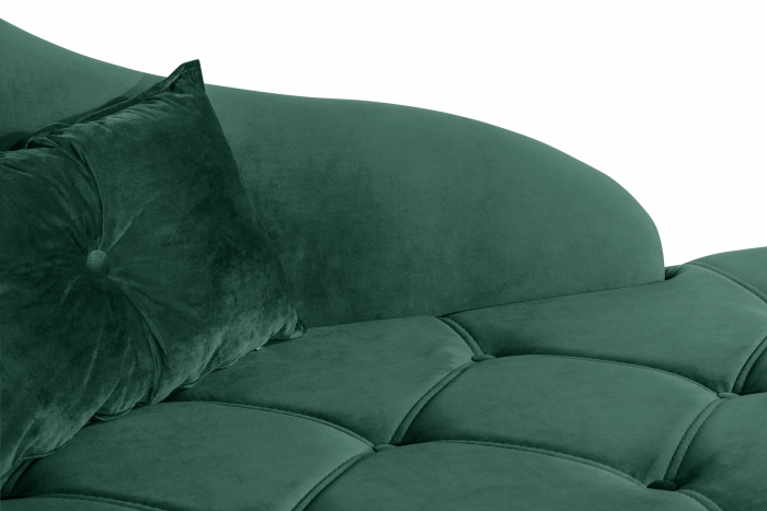 Sezlong living Diana, Verde inchis, 165x88x70 cm 4