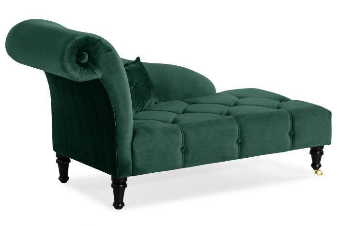 Sezlong living Diana, Verde inchis, 165x88x70 cm 1