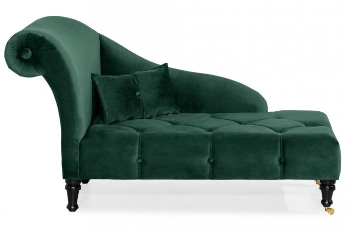 Sezlong living Diana, Verde inchis, 165x88x70 cm 2021 lotusland.ro