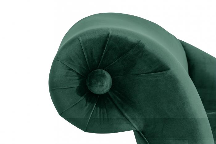 Sezlong living Diana, Verde inchis, 165x88x70 cm 5