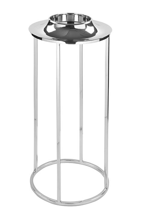 Stativ pentru suport lumanare ANELLO 158476, metal placat cu nichel sticla, 74.5 x 32.5 cm, Fink imagine 2021 lotusland.ro