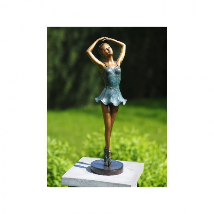 Statuie de bronz clasica Ballerina 48x15x12 cm lotusland.ro