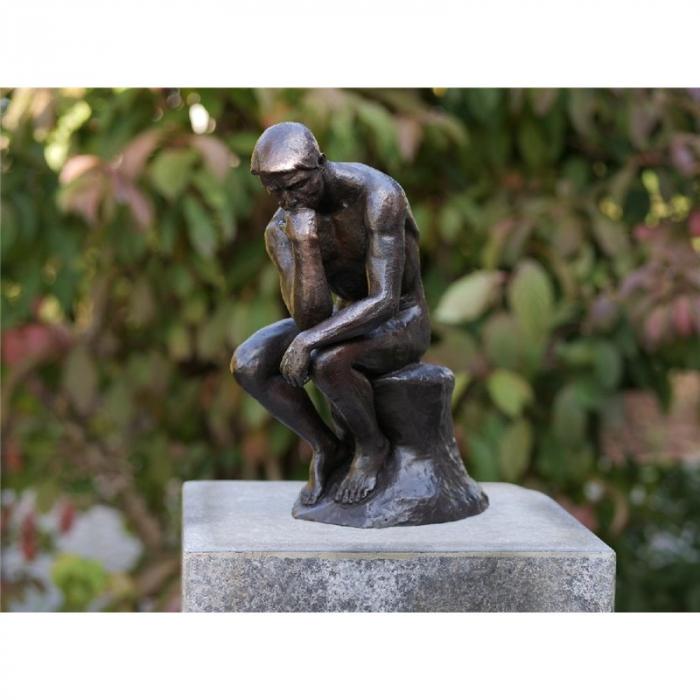 Statuie de bronz clasica Thinker of Rodin 29cm 29x12x24 cm 0