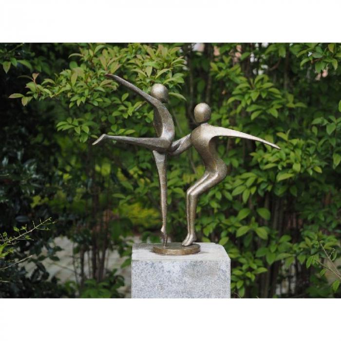 Statuie de bronz moderna 2 Dancing gymnast 57x55x37 cm imagine 2021 lotusland.ro