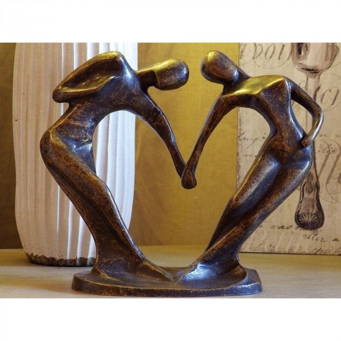Statuie de bronz moderna Abstract dancers big 24x30x14 cm lotusland.ro