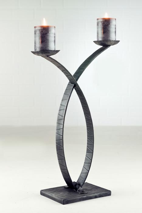 Suport lumanari Apollo, fier, negru, 38x14x55 cm 0