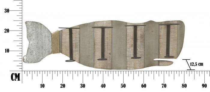 Suport de perete pentru sticle de vin BALENA, 80X12.5X25 cm, Mauro Ferretti 7