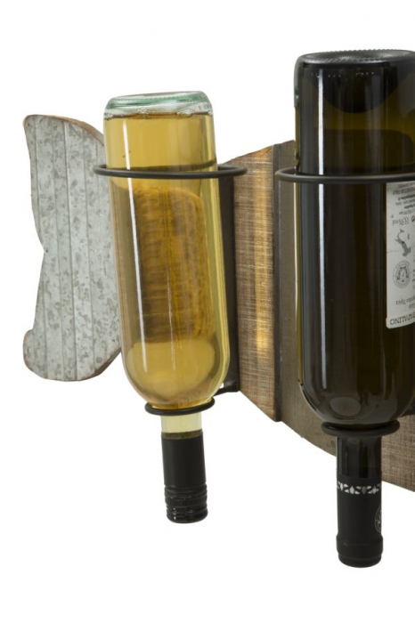 Suport de perete pentru sticle de vin BALENA, 80X12.5X25 cm, Mauro Ferretti 4