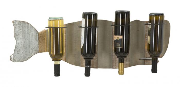 Suport de perete pentru sticle de vin BALENA, 80X12.5X25 cm, Mauro Ferretti 5