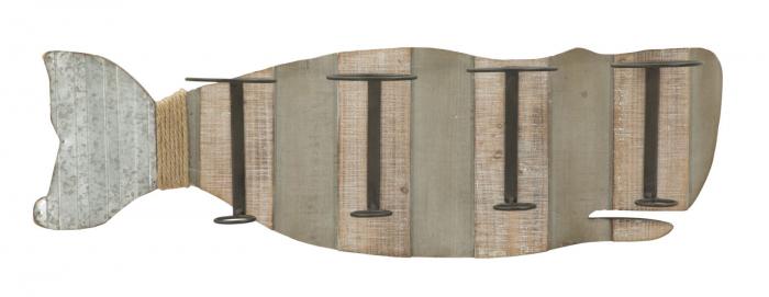 Suport de perete pentru sticle de vin BALENA, 80X12.5X25 cm, Mauro Ferretti 0