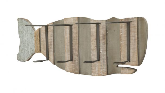 Suport de perete pentru sticle de vin BALENA, 80X12.5X25 cm, Mauro Ferretti 2