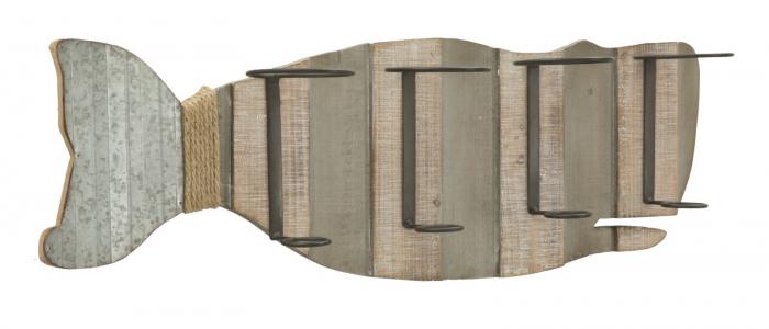 Suport de perete pentru sticle de vin BALENA, 80X12.5X25 cm, Mauro Ferretti 1