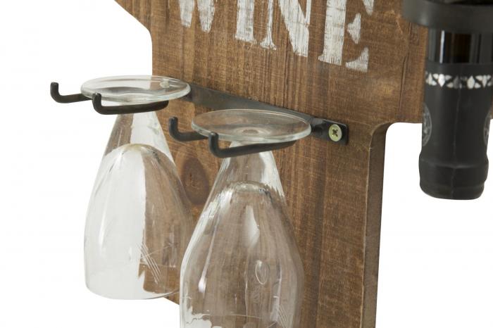 Suport de perete pentru sticle de vin CACTUS, 40X9.5X58 cm, Mauro Ferretti 3