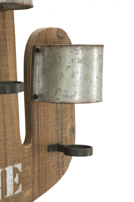 Suport de perete pentru sticle de vin CACTUS, 40X9.5X58 cm, Mauro Ferretti 7