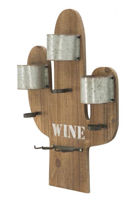 Suport de perete pentru sticle de vin CACTUS, 40X9.5X58 cm, Mauro Ferretti 2