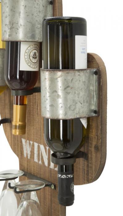 Suport de perete pentru sticle de vin CACTUS, 40X9.5X58 cm, Mauro Ferretti 5