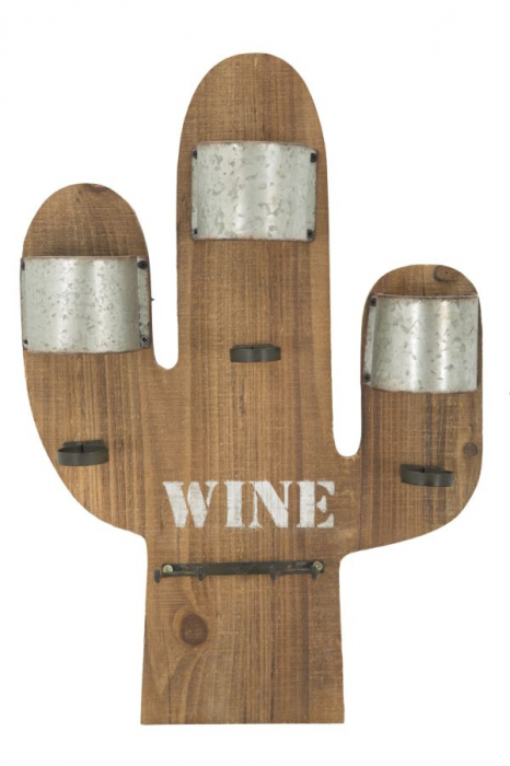 Suport de perete pentru sticle de vin CACTUS, 40X9.5X58 cm, Mauro Ferretti 0