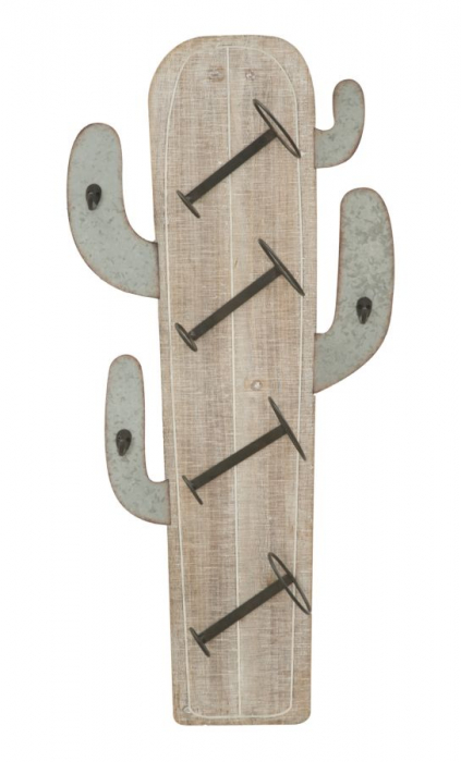 Suport de perete pentru sticle de vin CACTUS, 46X12X96 cm, Mauro Ferretti 0