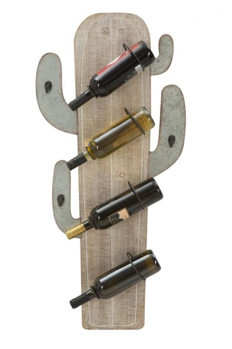 Suport de perete pentru sticle de vin CACTUS, 46X12X96 cm, Mauro Ferretti 4
