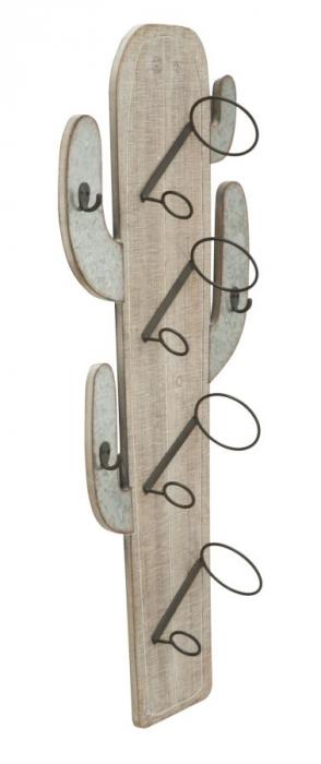 Suport de perete pentru sticle de vin CACTUS, 46X12X96 cm, Mauro Ferretti 1