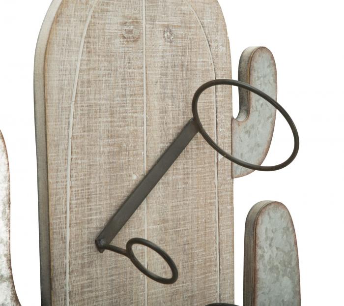 Suport de perete pentru sticle de vin CACTUS, 46X12X96 cm, Mauro Ferretti 5
