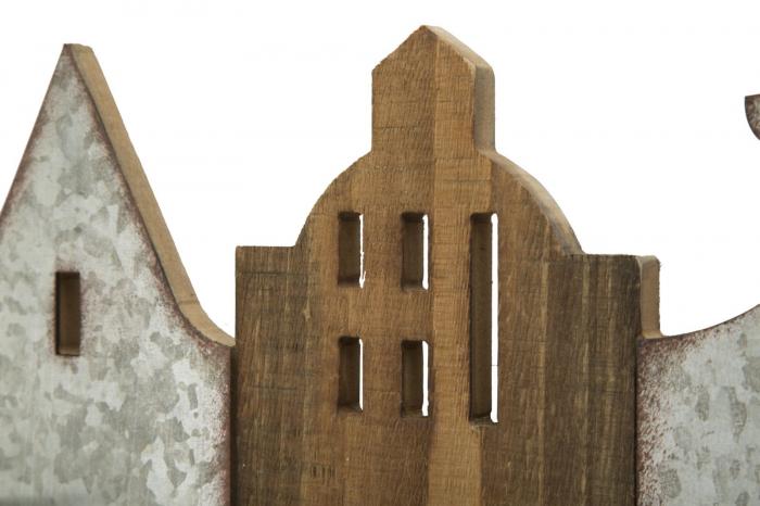 Suport de perete pentru sticle de vin CITY, 60X12X40 cm, Mauro Ferretti 6