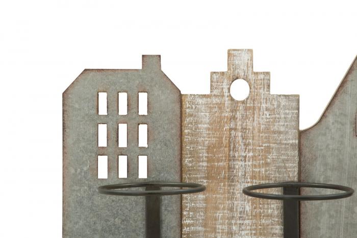 Suport de perete pentru sticle de vin CITY, 60X12X40 cm, Mauro Ferretti 3