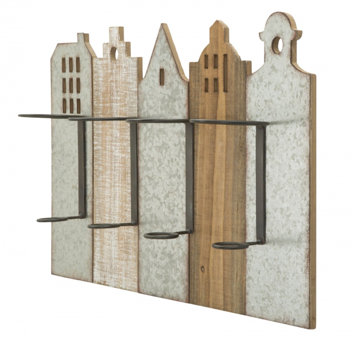Suport de perete pentru sticle de vin CITY, 60X12X40 cm, Mauro Ferretti 2