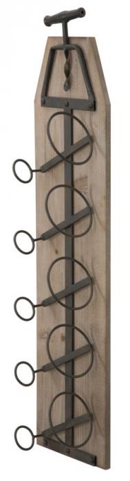 Suport de perete pentru sticle de vin CORK, 20X12.5X86 cm, Mauro Ferretti 6