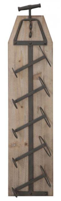Suport de perete pentru sticle de vin CORK, 20X12.5X86 cm, Mauro Ferretti 1