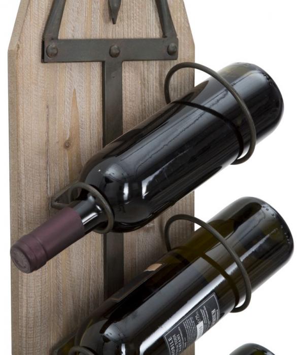 Suport de perete pentru sticle de vin CORK, 20X12.5X86 cm, Mauro Ferretti 5