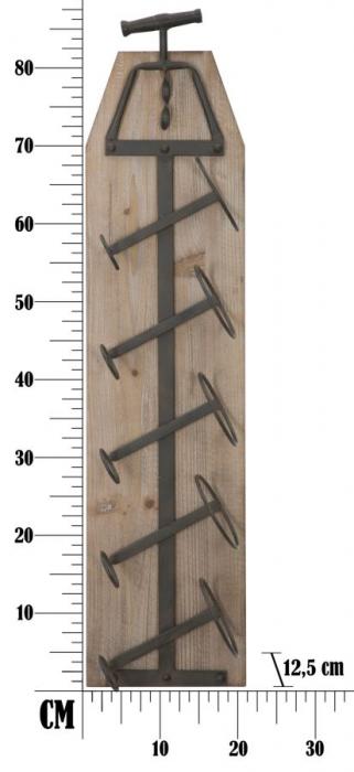 Suport de perete pentru sticle de vin CORK, 20X12.5X86 cm, Mauro Ferretti 8