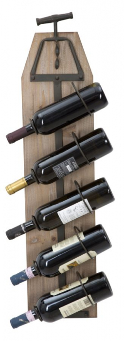Suport de perete pentru sticle de vin CORK, 20X12.5X86 cm, Mauro Ferretti 0